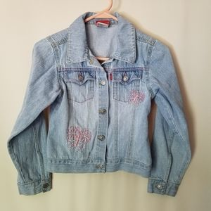 Girls sz 8 Levi's Jean jacket EUC